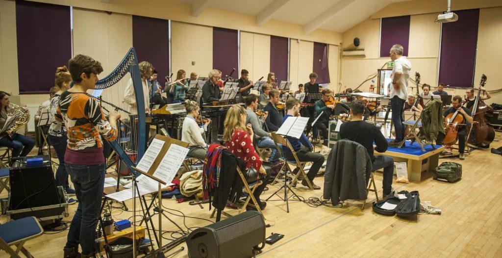 Army of Generals , The British Paraorchestra and Charles Hazlewood rehearse kraftwerk rewerk at Loyola Hall, London