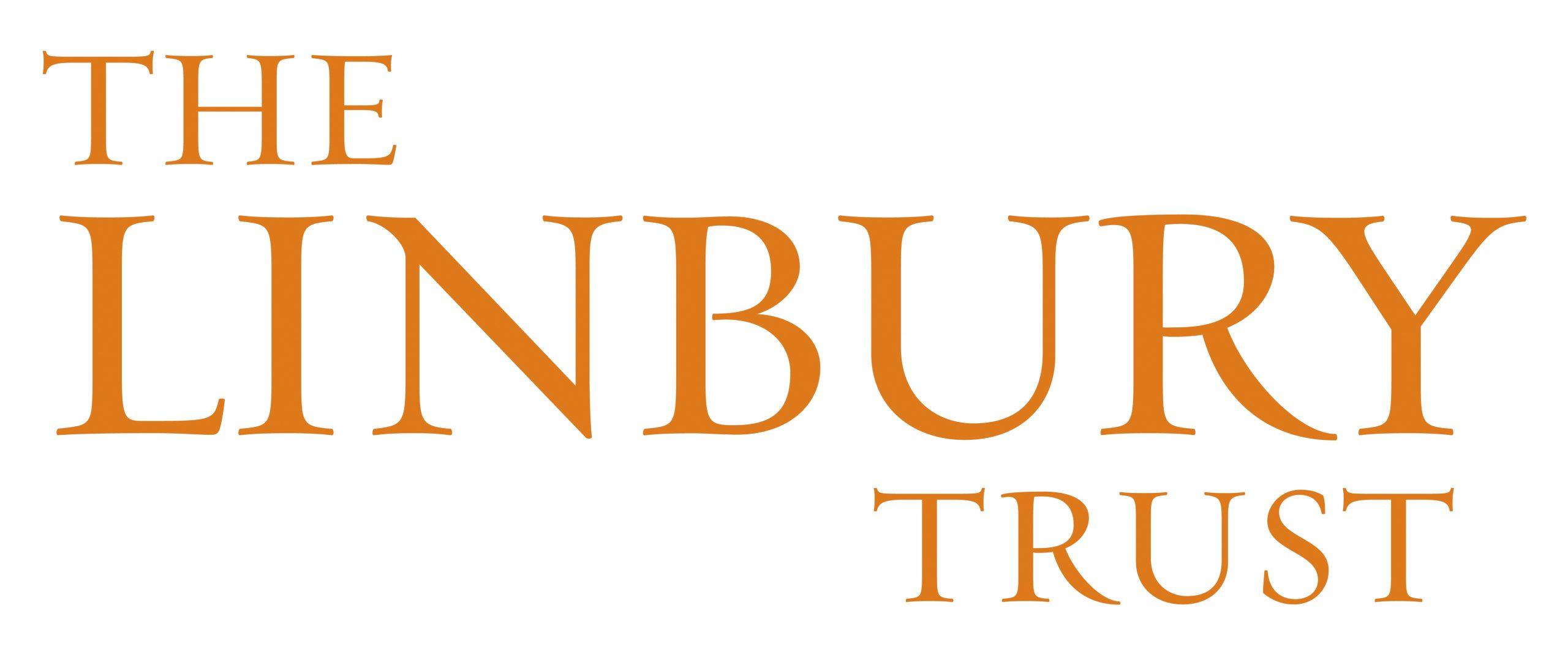 Logo in orange serif font reads The Linbury Trust