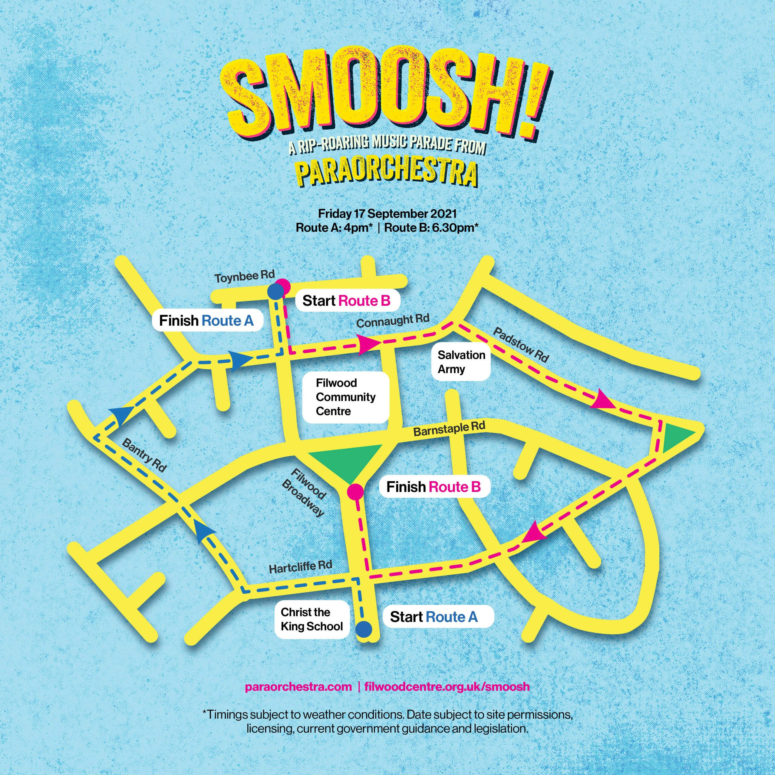 Route map of SMOOSH